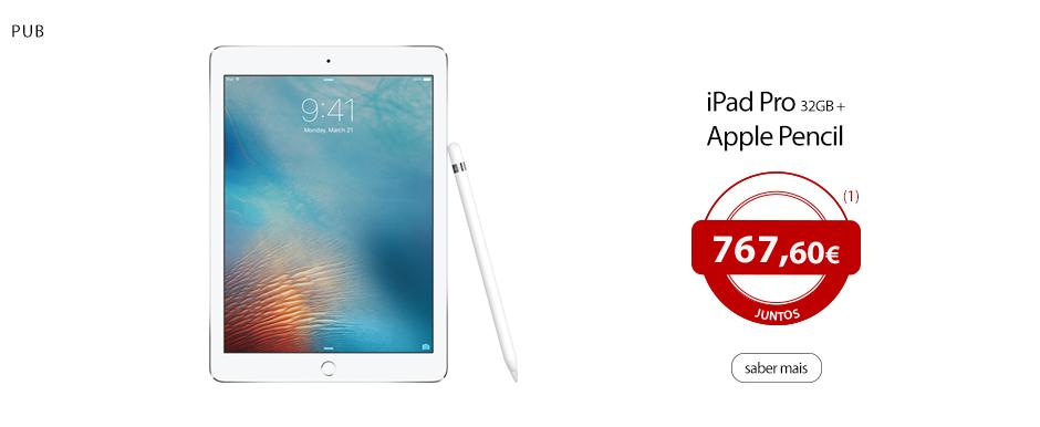 iPad Pro 32GB e Apple Pencil, juntos!